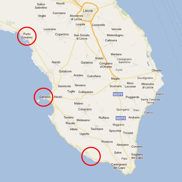 Cartina Puglia Costa Ionica.Come Evitare Il Traffico Sulla Litoranea Ionico Salentina In Estate The Puglia Immobiliare