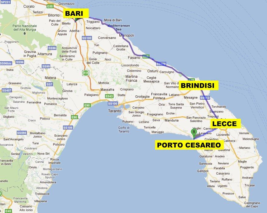 Lecce Puglia Cartina.Come Raggiungere Porto Cesareo E Torre Lapillo Venendo Da Bari O Taranto The Puglia Immobiliare