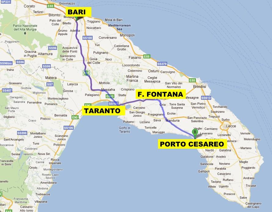 Porto Cesareo Puglia Cartina.Come Raggiungere Porto Cesareo E Torre Lapillo Venendo Da Bari O Taranto The Puglia Immobiliare
