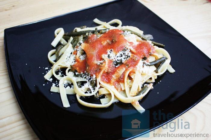 fagiolini-verdi-pasta-sugo-puglia